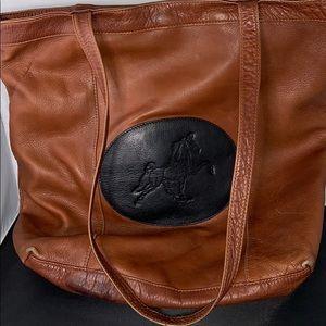 M. De Arriaga Equestrian Leather Tote
